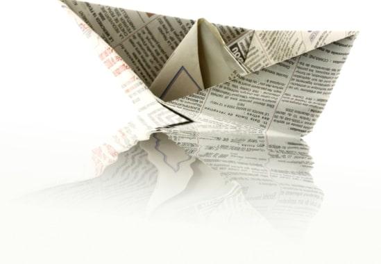 origami bateau papier
